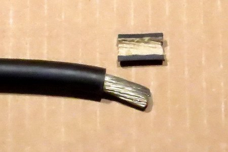 welding cable with tinned conductors